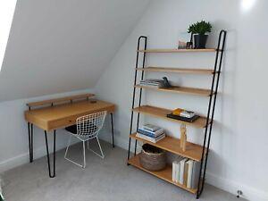 Heals Scandi Brunel Desk And Wide Lean-To Shelving Unit Excellent Condition