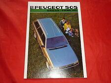 PEUGEOT 505 Break Familial GL GR GLD GRD GTDT GTI Prospekt von 1986