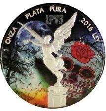 2016 1 Oz Silver Mexican Libertad DIA DE LOS MUERTOS Coin.. IN CAPSULE.