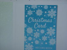 New xmas Card Record Book, SNOWFLAKE spaces to fill in 5 yrs of names, 48 pg