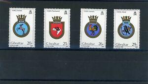GIB005 QEII Gibraltar Naval ships crests 3rd series stamp set (SG510-513)  UMM