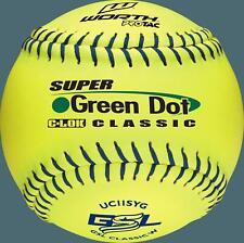 "Worth 11"" Super Green Dot Classic GSL Classic W Softballs (Dozen): UC11SYG"