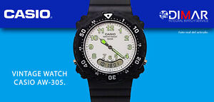 Vintage Casio AW-305, WR.164ft QW.746,Year 1993 Bezel Rotary