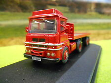 OXFORD ERF LV FLATBED ARTIC LORRY RED 1/76 76LV001 BOXED & NEW
