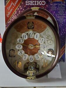 SEIKO Collectors Clock - Melodies In Motion Swarovski Crystals QXM574BRH