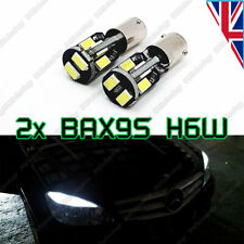 2x H6W BAX9S Bright White Canbus No Error SIDELIGHT/ PARKING LIGHT SMD LED Bulbs
