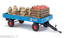 Busch 44995 Anhänger mit Apfelladung, H0 Fahrzeug Fertigmodell 1:87