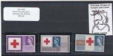 GB 1963 Red Cross Phosphor, Set of 3, SG 642/4p, Stamps