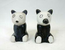 Vintage Ceramic Panda Bear Salt & Pepper Shaker Set