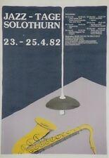 Original Plakat - Jazz-Tage Solothurn 1982