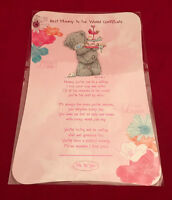 ME TO YOU BEAR TATTY TEDDY BEST MUMMY IN THE WORLD VERSE CERTIFICATE GIFT