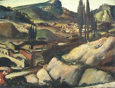 """Salvatore FIUME """"Queyo"""" Strada da Salamanca a Zamora 78x100 opera STORICA 1947"""