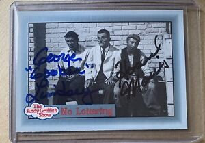 Howard Morris & George Lindsey The Andy Griffith Show AUTOGRAPHED Trading Card
