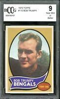 1970 Topps #110 Bob Trumpey Rookie Card BGS BCCG 9 Mint+