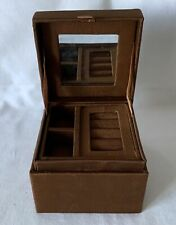 Hinged Jewellery Box with Suede Covered Pull Out Insert & Sequined Lid