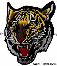 tiger face large iron sew on patch lion Asian tiger big cat  embroidered #105