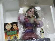 "WDCC Mulan ""Honorable Decision"" Disney Mulan NIB COA with bonus pins & Free Ship"
