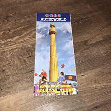 Vintage Astroworld Brochure Souvenir 1968 Amusement Park Houston Map Astrodome