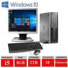 "Windows 10 Full HP Intel Core i5 8GB 2TB Powerfull Fast + 19"" Monitor Full SET"