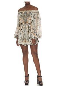 Camilla TIERED MINI DRESS GATES OF GLORY Size S