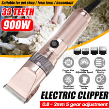 900W Professional Pet Hair Trimmer Kit Dog Cat Grooming Electric Clipper   H}}