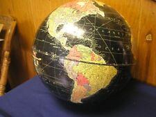 Vintage 1940's Replogle Starlight  Globe 12 Inch Black Ocean NO Stand