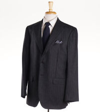 New $6000 SARTORIO NAPOLI by Kiton Charcoal 100% Cashmere Suit Slim 44 R (Eu 54)