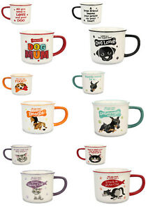 H&H Wags & Whisker - Dog & Cat Novelty Mugs - Gift Mug -  Various Styles