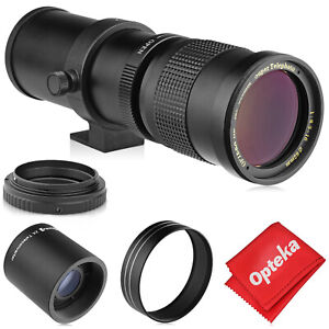 Opteka 420-1600mm Telephoto Zoom Lens for Nikon F DX FX Mount Digital Cameras