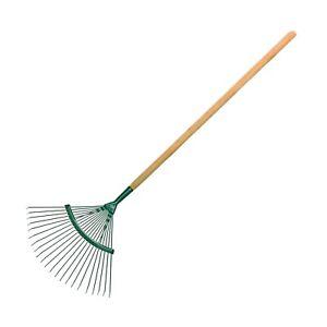 42 cm / 18 Tines Traditional Steel Fan Rake with 115 cm Long Handle Gardening