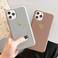 For iPhone 12 11 Pro Max XS XR 8 7 SE2 Heart Shockproof Soft Silicone Cover Case