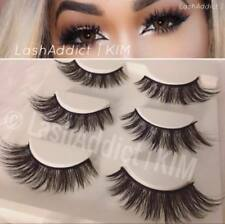 GORG 3 Pairs MINK Lashes Eyelashes 3d Fur Makeup Extensions | US SELLER New