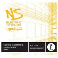 D'Addario NS Electric Cello Single Low F String, 4/4 Scale, Medium Tension