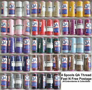 4 Spools QA (Hemline) 2000m Overlocker Sewing Thread, Choose Colour, Full Range