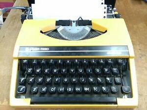 Vintage yellow Silver Reed Silverette Portable Typewriter BB672