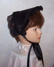 Civil War/Victorian/SASS Ladies Dress Hat/Bonnet (solid Black)
