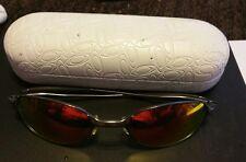 Vintage Oakley A-Wire sunglasses Gun Metal Frames/ Read Description xtra lenses