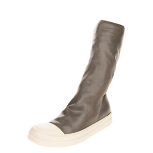 RRP €405 DRKSHDW By RICK OWENS Mid-Calf Sneaker Boots Size 37 UK 4 US 7 Coated