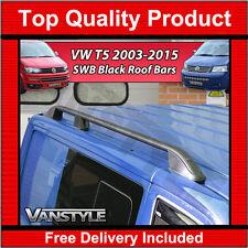 VW VOLKSWAGEN T5 TRANSPORTER SWB BLACK ROOF RAILS ROOF BAR SIDE BAR NO DRILL VAN
