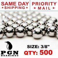 """500 QTY - 3/8"""" Inch Steel Slingshot Ammo Shot Balls"""