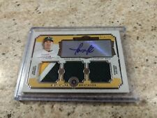 Tommy Milone 2013 Museum Collection Signature Swatches Triple Relic Auto 016/299