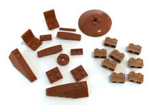 LEGO Dark Orange Medium Flesh Bricks Seats Mixed Bulk Lot 21 Pieces GOOD VARIETY