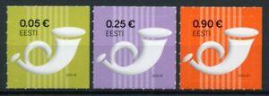 Estonia Definitives Stamps 2020 MNH Posthorn Post Horn 3v S/A Set