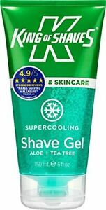 King of Shaves Supercooling Shave Gel with Aloe & Tea Tree 150ml