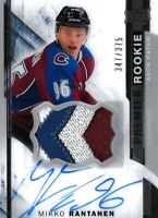 2015-16-U.D. PREMIER ROOKIE MIKKO RANTANEN  R.C. AUTO  PATCH #/375  COLORADO WOW