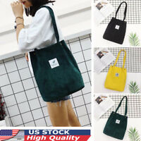 US Women Durable Canvas Tote Bag Large Capacity Handbag Casual Shoulder Shopper