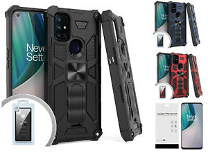 For OnePlus Nord N10 BE2029 5G Machine Kickstand Case Phone Cover + TG