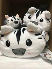 Mooshmallowz Soft Plush Buddies STRIPEY Zebra Set of 3 New with Tags