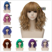 35CM Kurz Gelockte Haar Lolita Fashion Party Ombre Cosplay Perücke + Wigcap