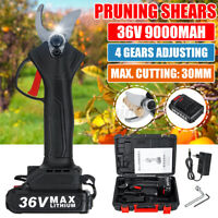 36V Cordless Rechargeable Electric Pruning Shears Secateur Branch Cutter